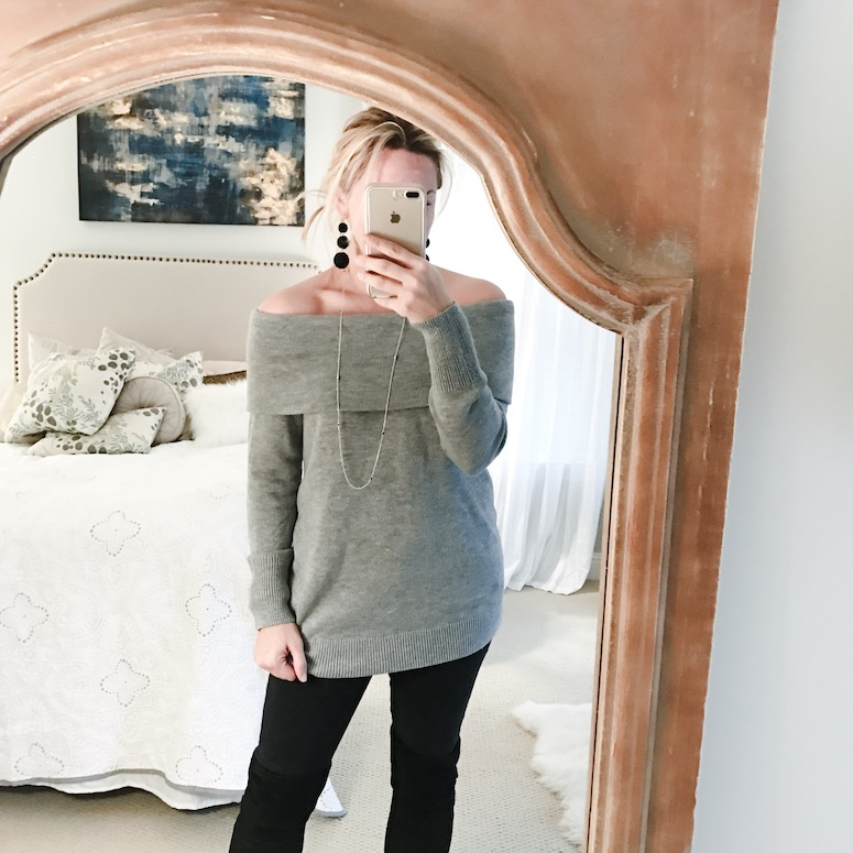 Off the shoulder sweater under $30
