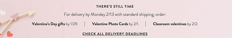 Valentines gifts in time
