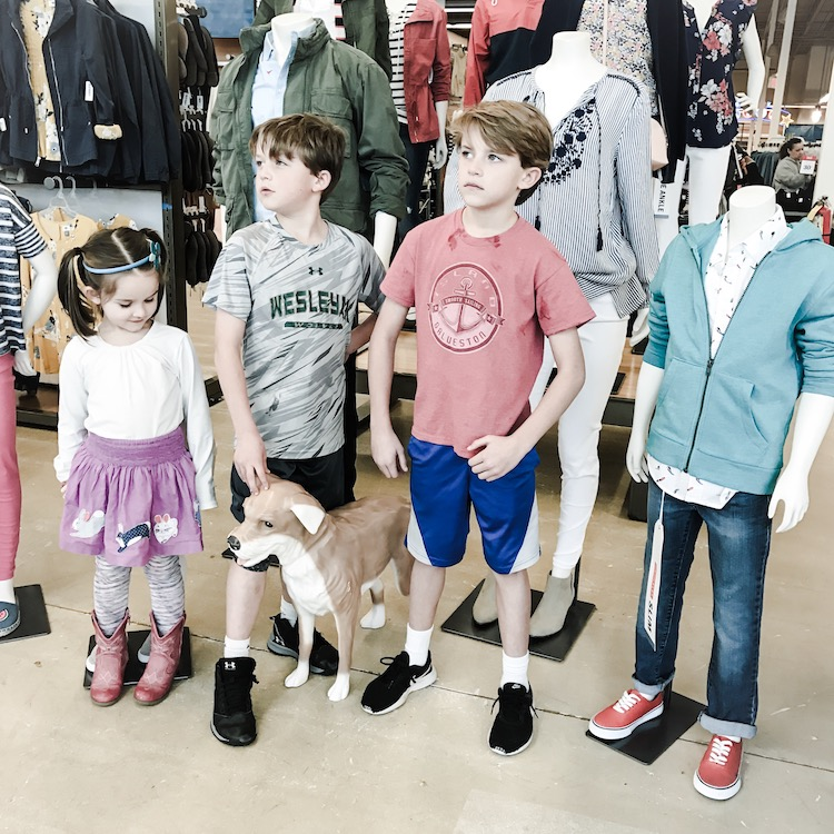 Shopping at Old Navy