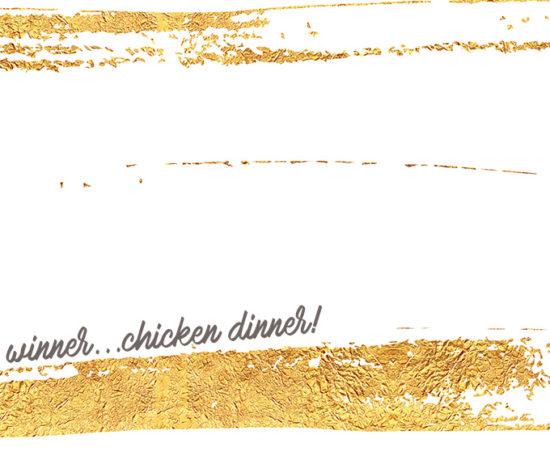 Gold foil graphic