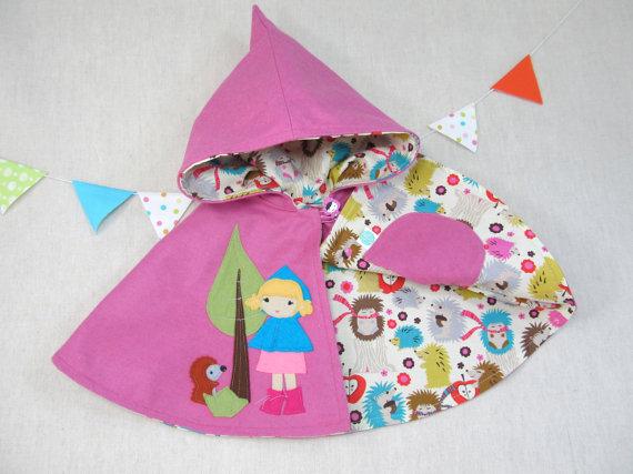 Handmade little girls cape
