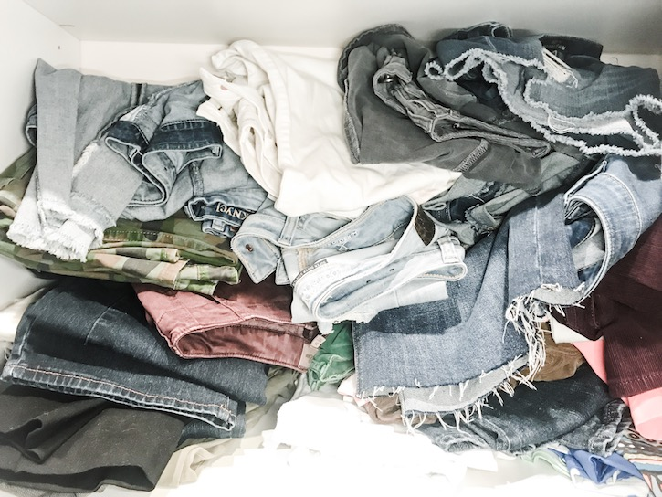 how to organize your denim