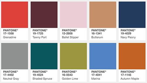 fall 2017 pantone colors
