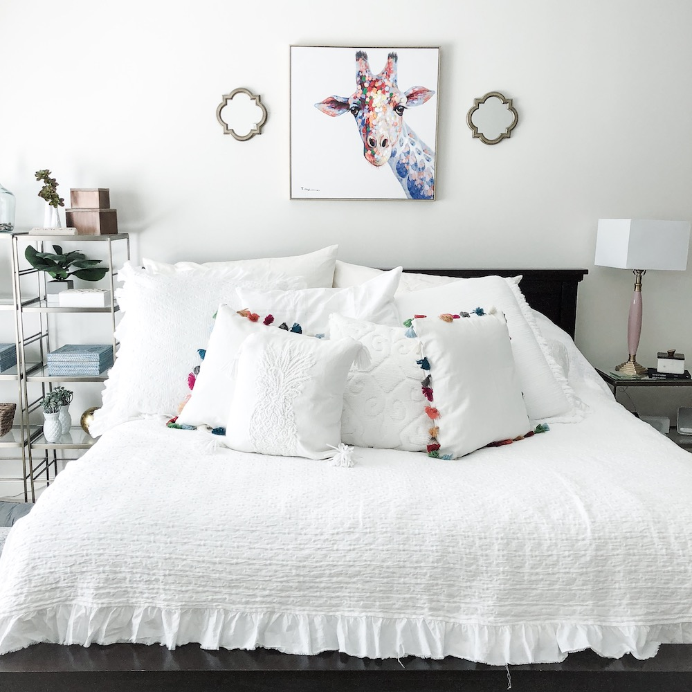 master bedroom with pottery barn