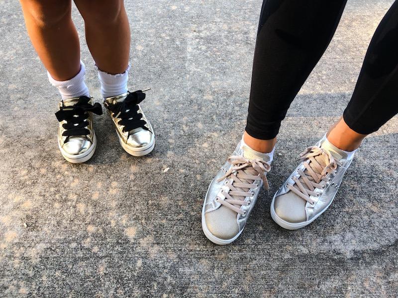 metallic sneakers under 70 by skecher